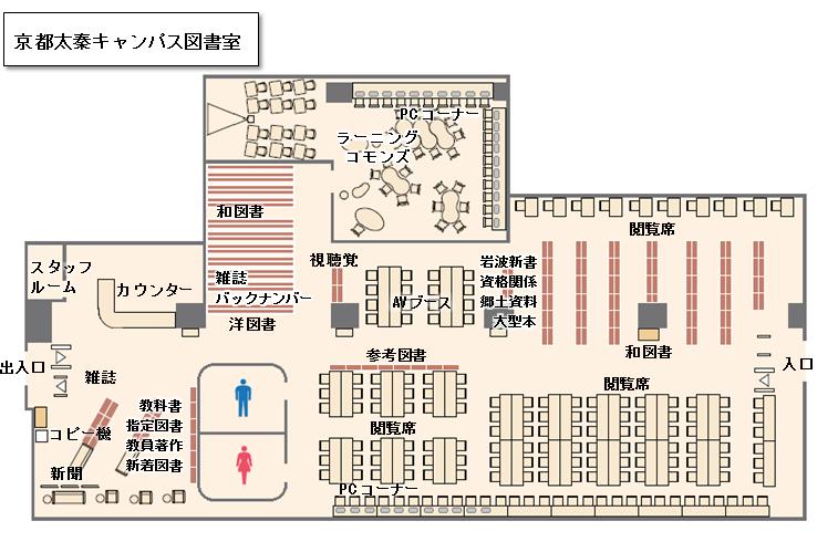 京都太泰キャンパス図書室